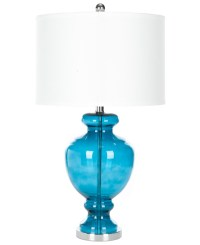 Turquoise Glass Table Lamp  Set of 2 | Everything Turquoise