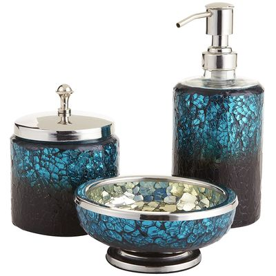 kitchen vessels set wall faucet peacock mosaic bath accessories | everything turquoise