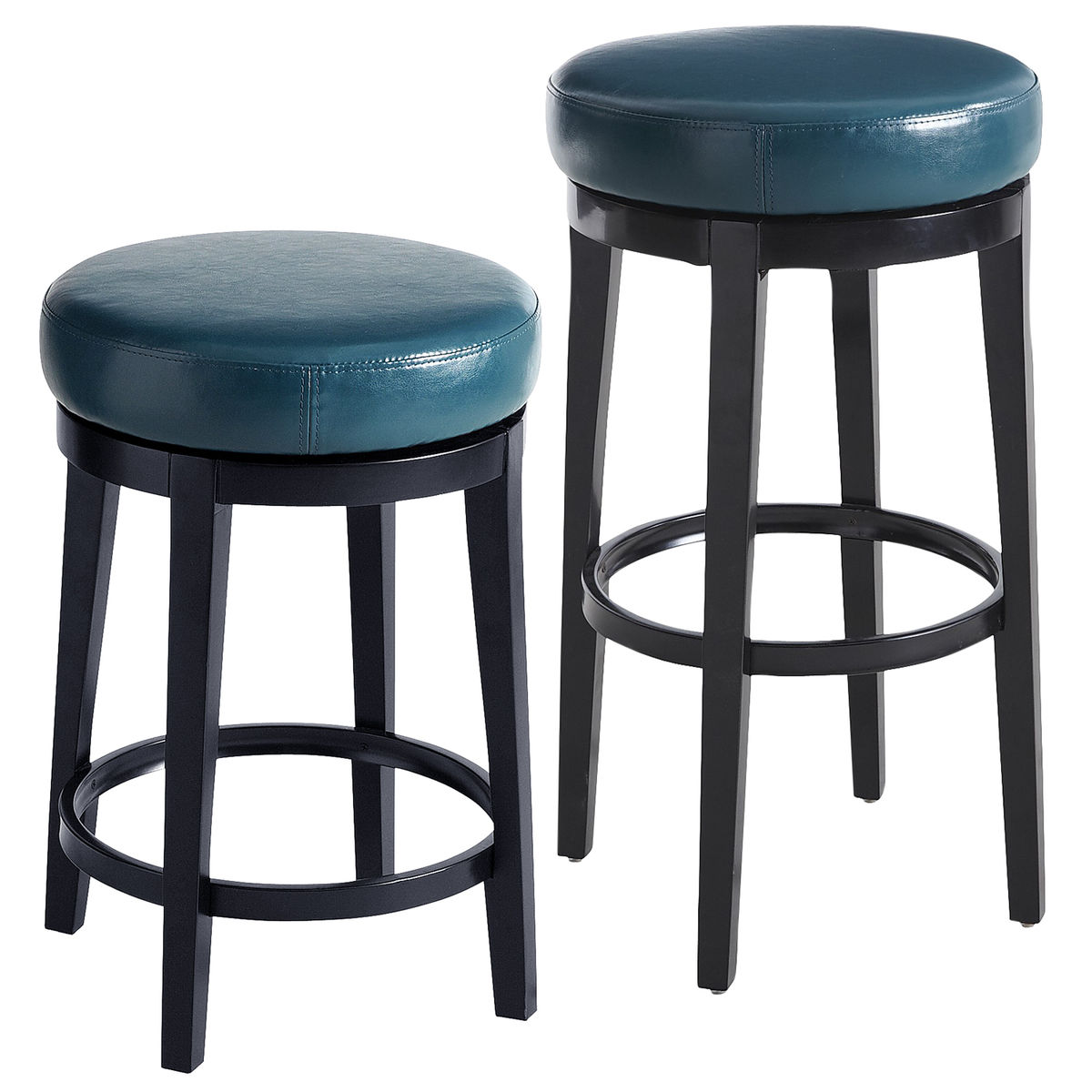 Teal Kitchen Chairs Stratmoor Teal Swivel Bar And Counter Stool Everything