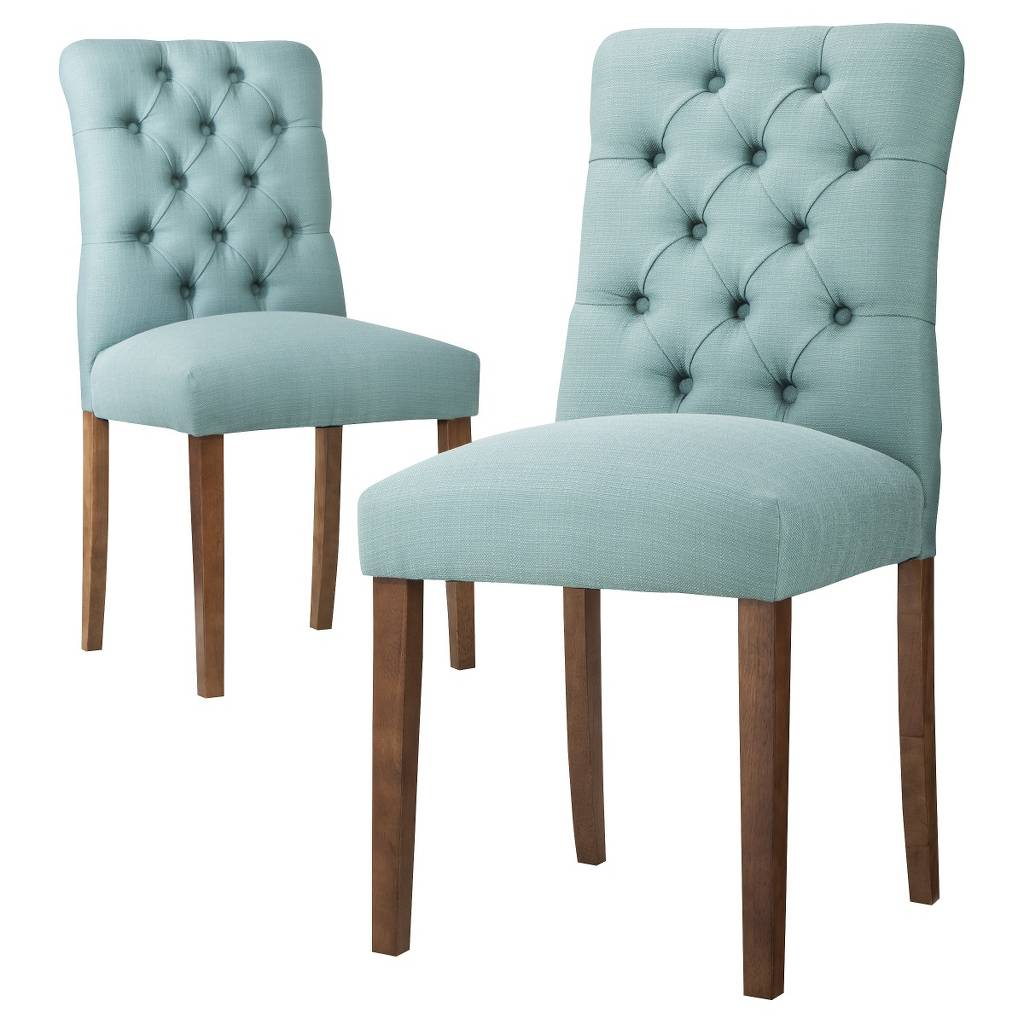 tufted dining room chairs cheap side aqua blue brookline chair everything turquoise