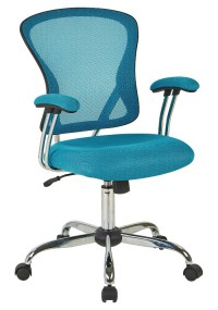 Ave Six Juliana Blue Mesh Task Chair | Everything Turquoise