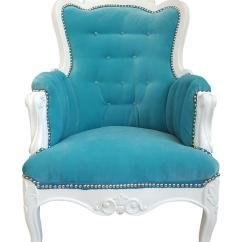 Aqua Accent Chair Reclining Patio Antique Turquoise Velvet Everything