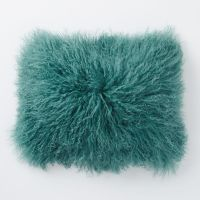 Mongolian Lamb Pillow Cover in Peacock | Everything Turquoise