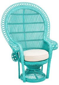 Turquoise Peacock Accent Chair | Everything Turquoise