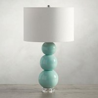 Cerena Seafoam Ceramic Stacked Table Lamp