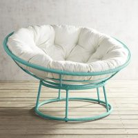 Outdoor Peacock Blue Papasan Chair Frame | Everything ...