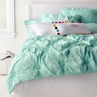 Ruched Rosette Quilt + Sham | Everything Turquoise