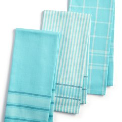 Martha Stewart Kitchen Towels Glassware 3 Pc Jacquard Striped Cotton Everything