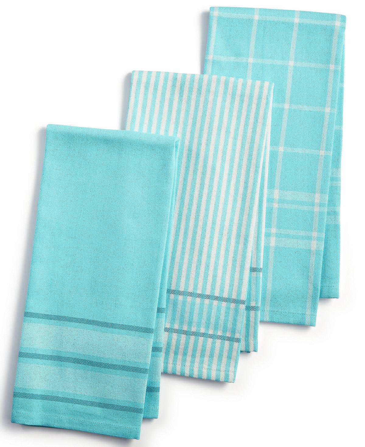 martha stewart kitchen towels small appliance 3 pc jacquard striped cotton everything
