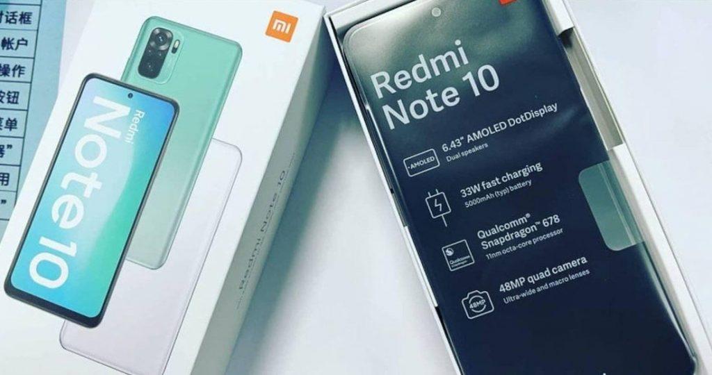 Redmi Note 10 box leak