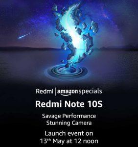 Redmi Note 10S India launch