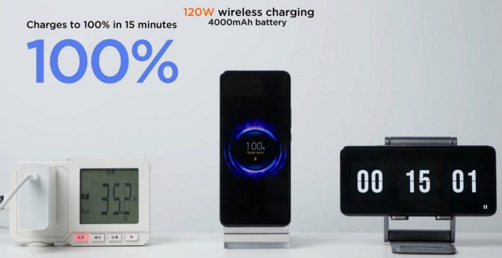 Xiaomi 120W wireless fast charging