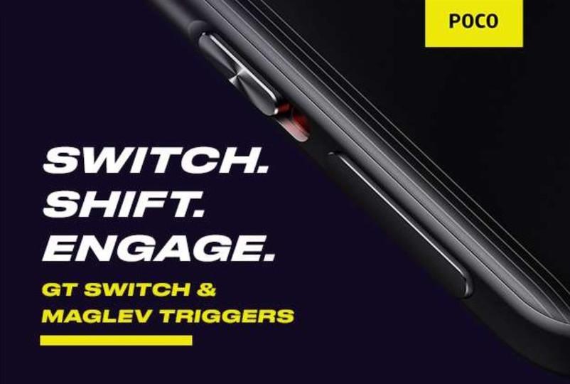 POCO F3 GT gaming triggers