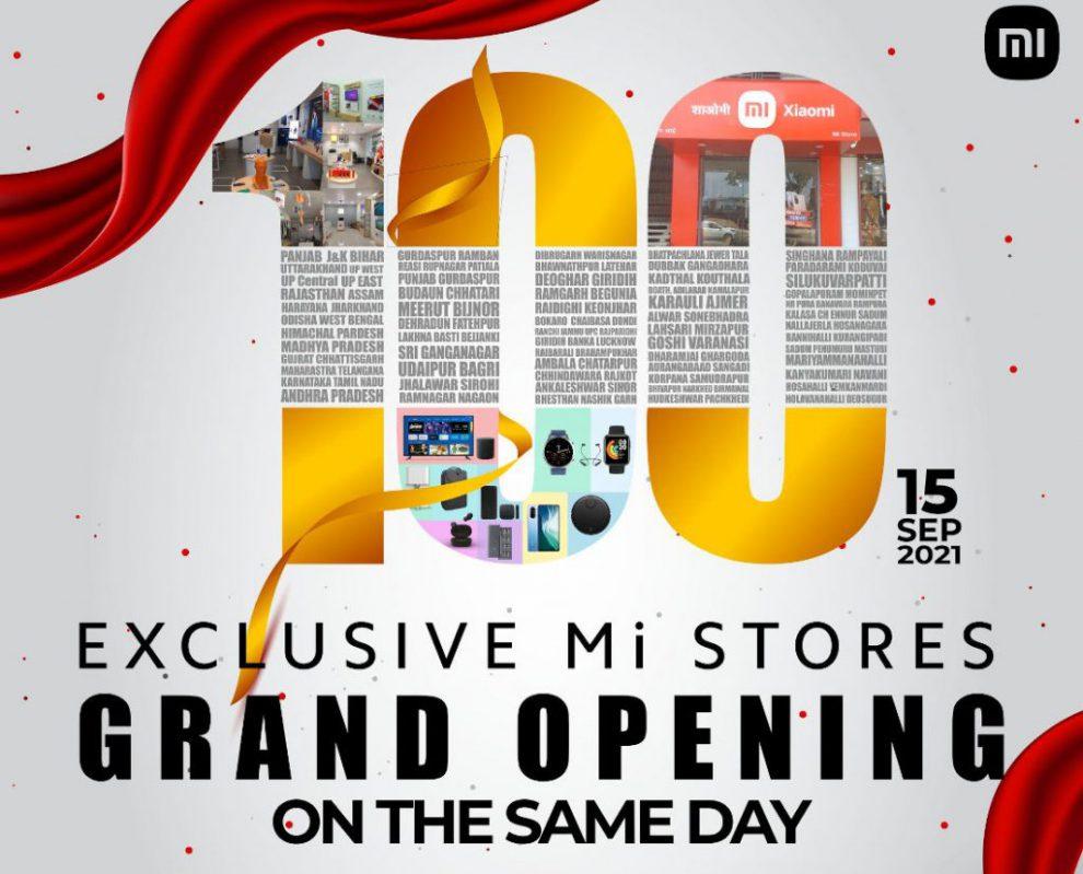 XIaomi India Mi Stores opening