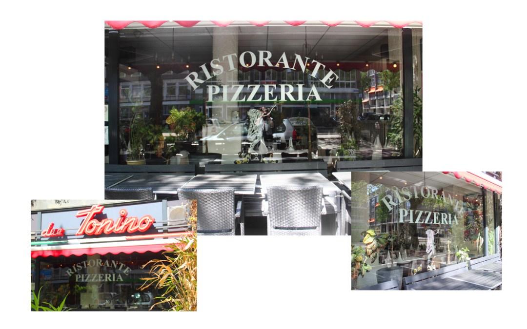 Reclame belettering – Tonino Pizzeria