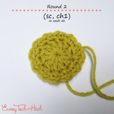Marigold crochet afghan block pattern photo tutorial round 2