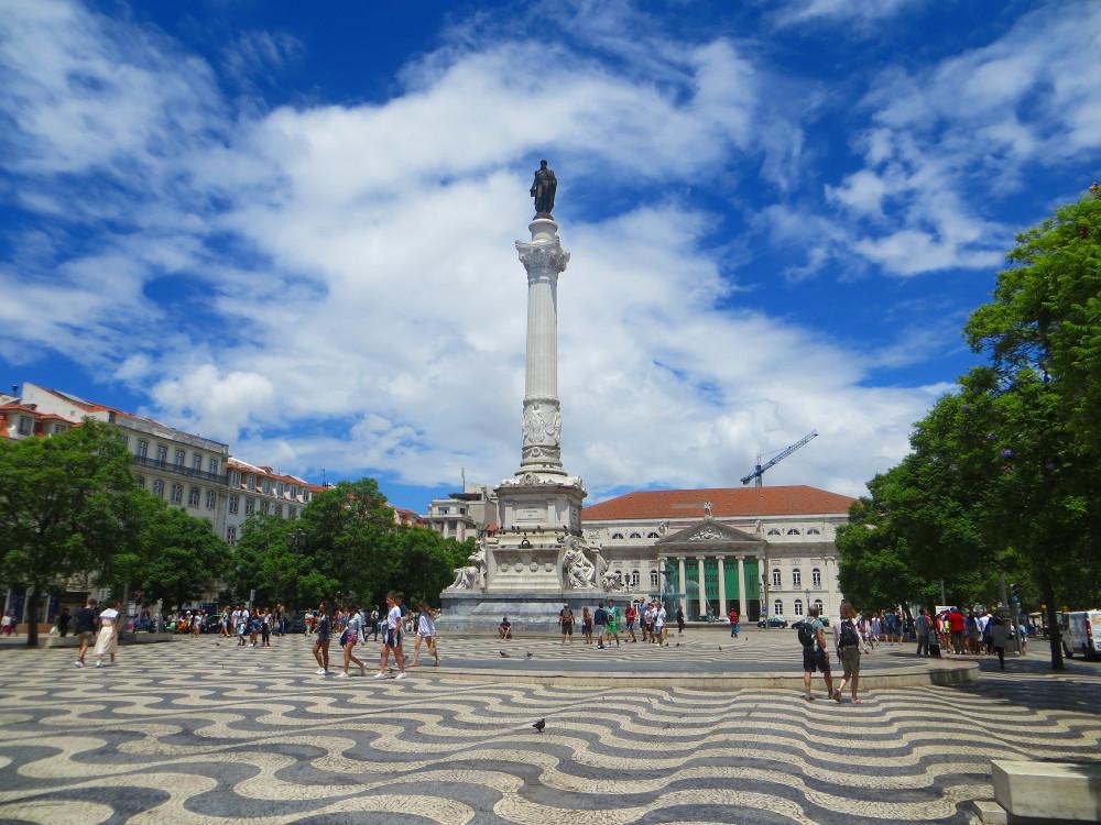 Praça do Rossio im Zentrum Lissabons