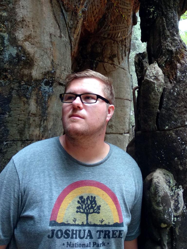 Marc Möllmann in Angkor Thom