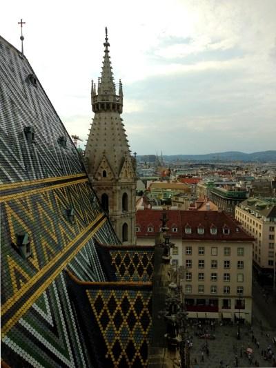 Blick vom Wiener Stephansdom