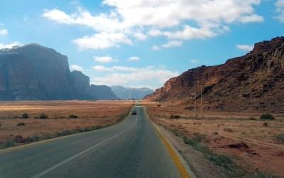 Landstraße in Jordanien