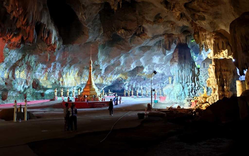 Inside the Saddan Cave near Hpa-An
