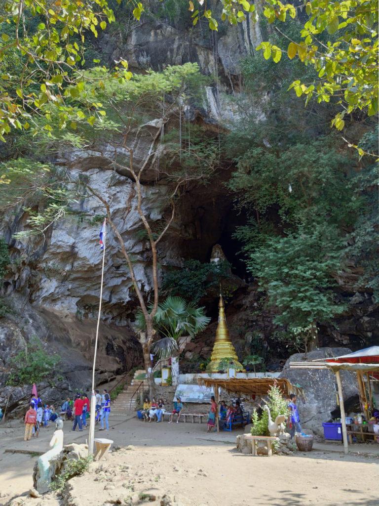 Hinterausgang der Saddan-Höhle