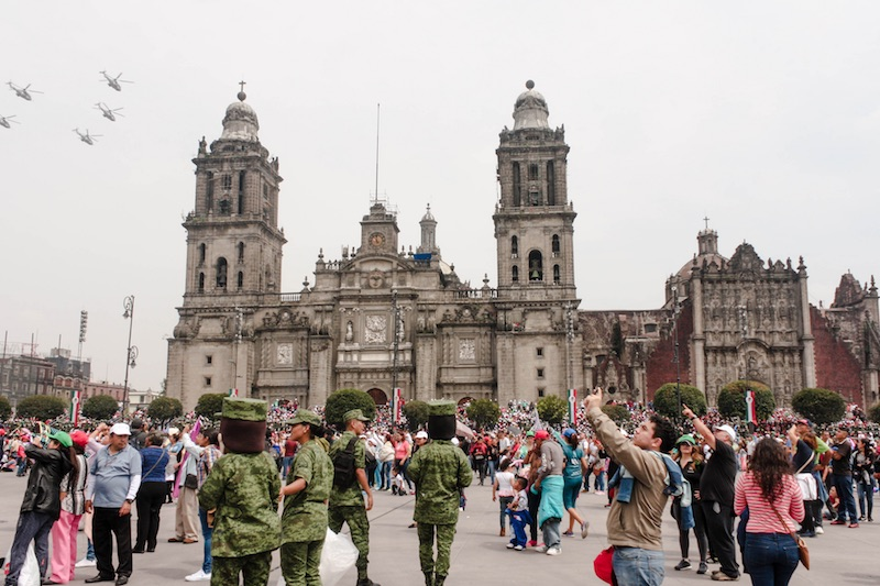 Backpacking Mexico City's Historic Center: The Zócalo on Independence Day