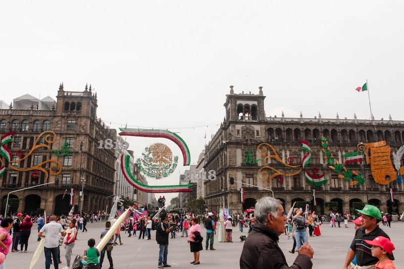 Backpacking Mexico City: Historic Center on Independence Day