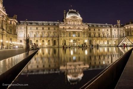 The Louvre at Night, Paris