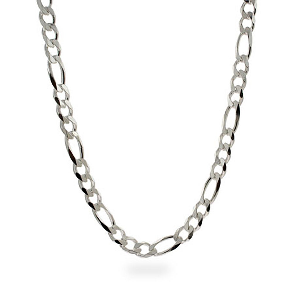 Men's Sterling Silver Figaro Necklace