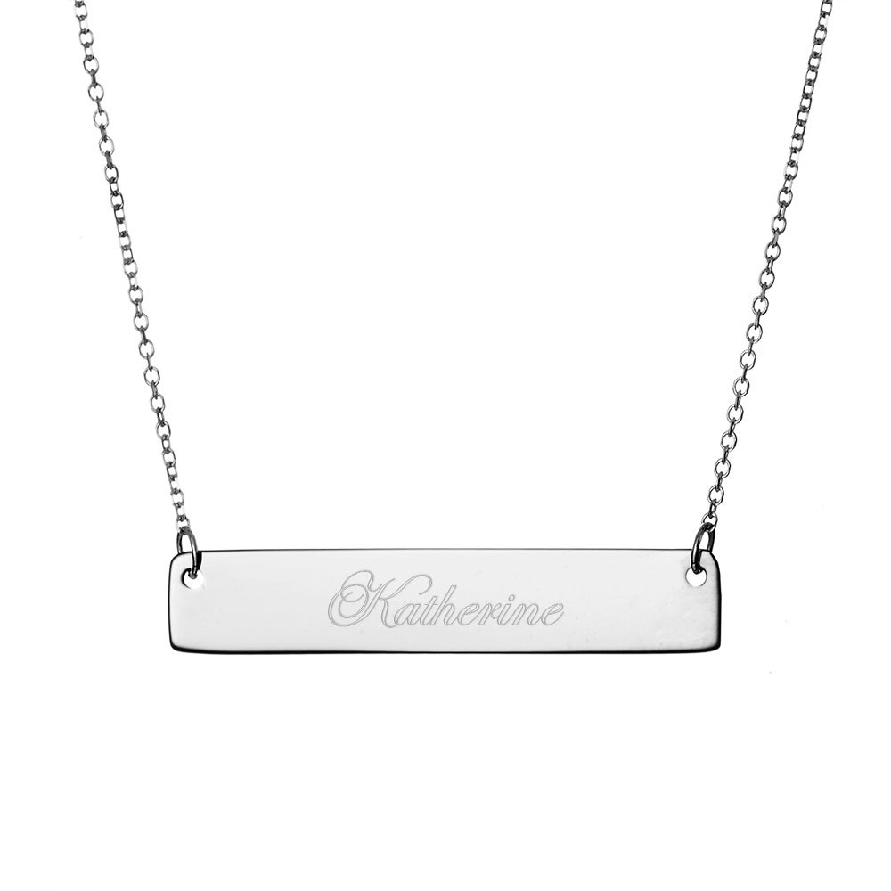 engravable sterling silver name