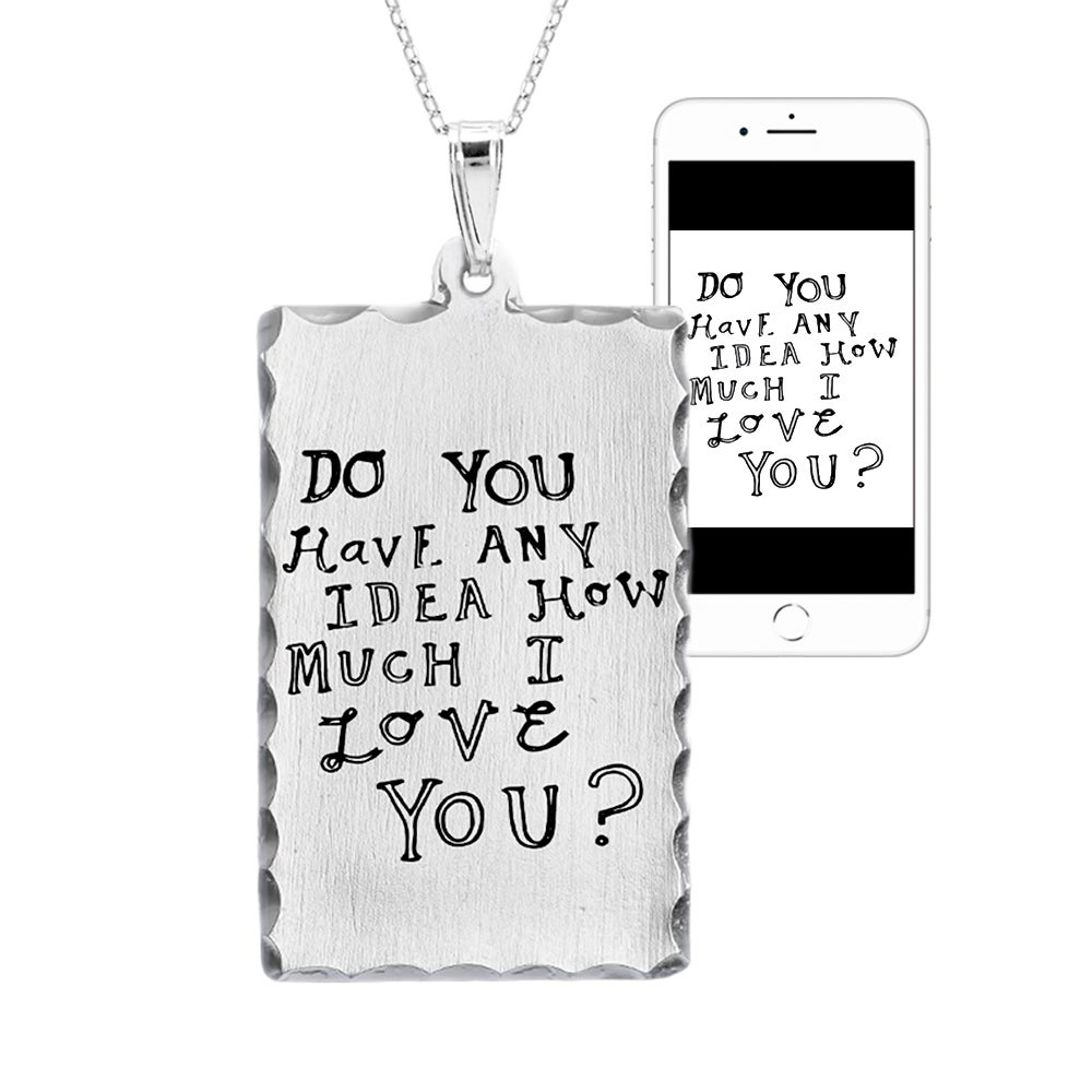 personalized handwritten dog tag