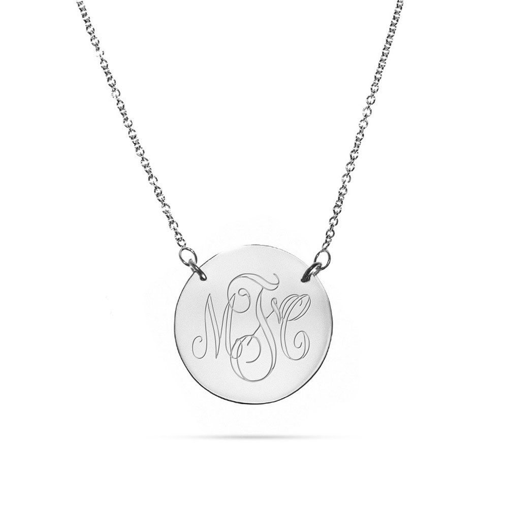 engravable sterling silver disc