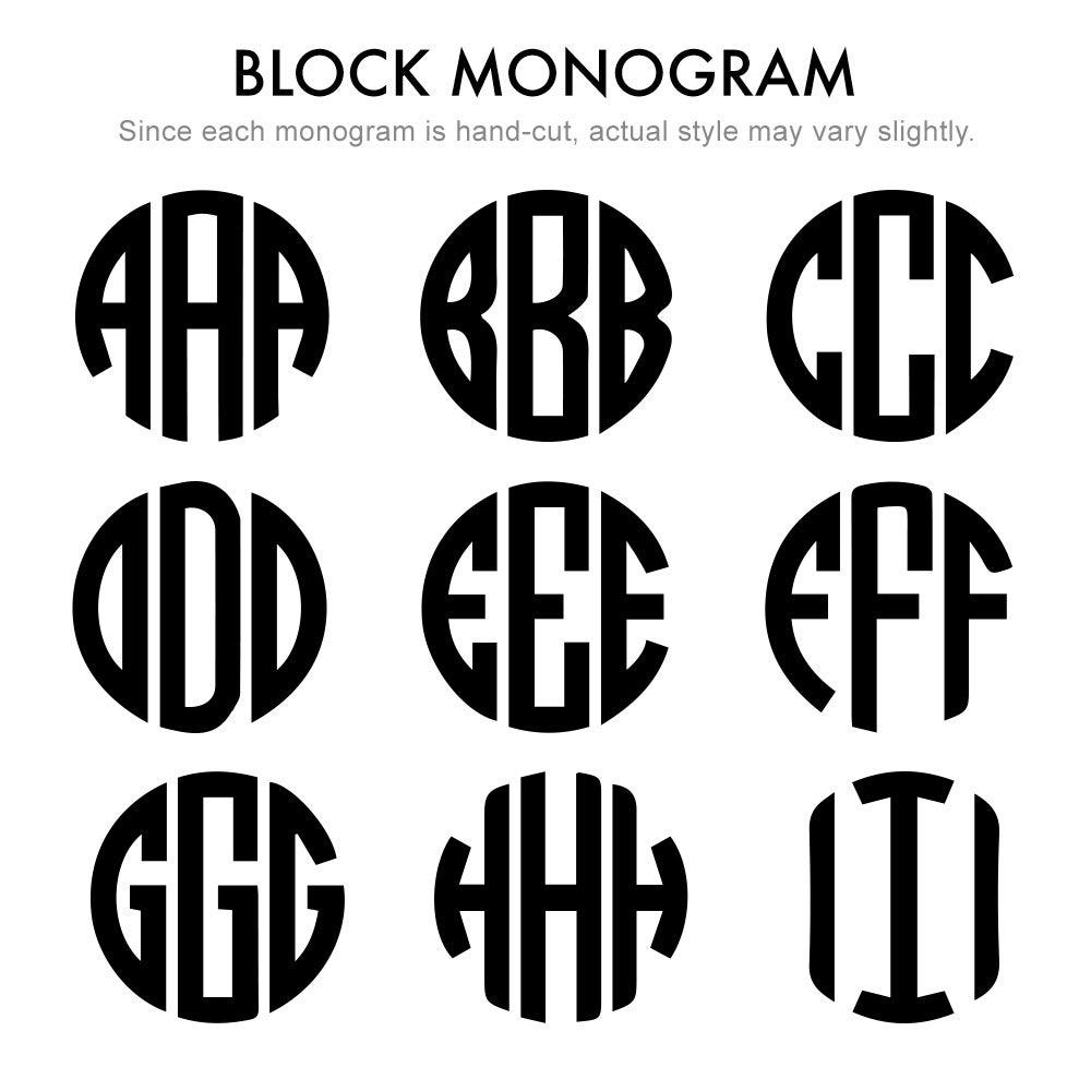 Two Letter Block Style Rose Gold Monogram