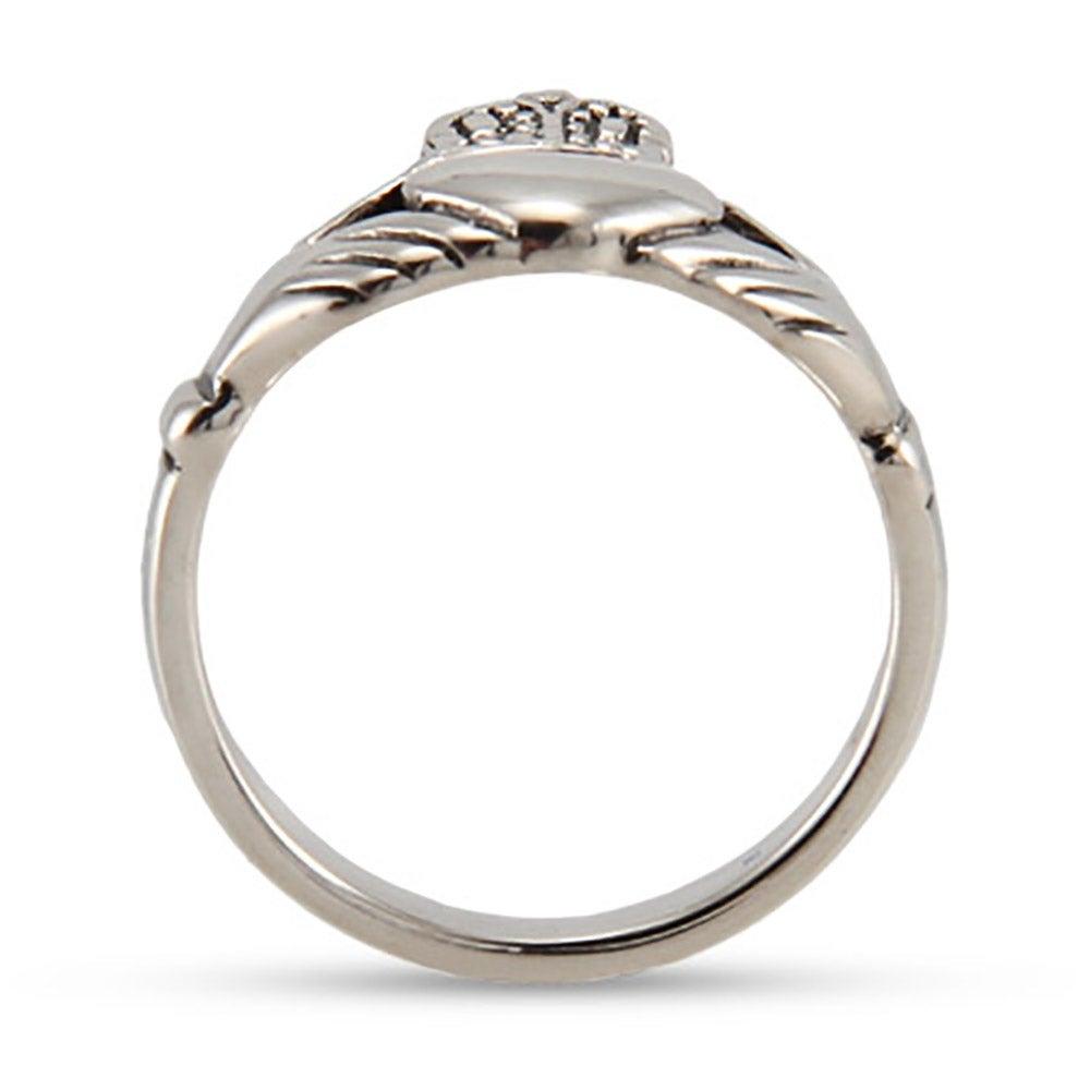 Sterling Silver Irish Claddagh Wedding Ring  Eves Addiction