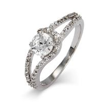 Sterling Silver and CZ Round Cut Promise Ring | Eve's ...
