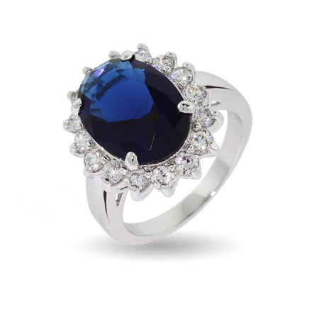 Royalty Inspired Sapphire Cz Engagement Ring  Eve's