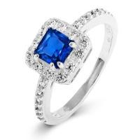 Delicate Princess Cut Sapphire CZ Promise Ring | Eve's ...