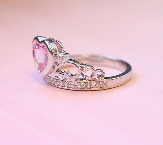 pink-CZ-heart-crown-ring