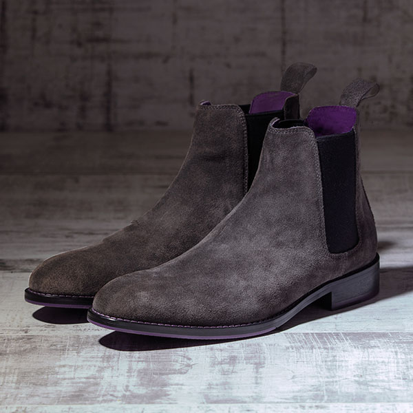 Italian Suede Leather Charcoaol Chelsea Boot - Atlas 3