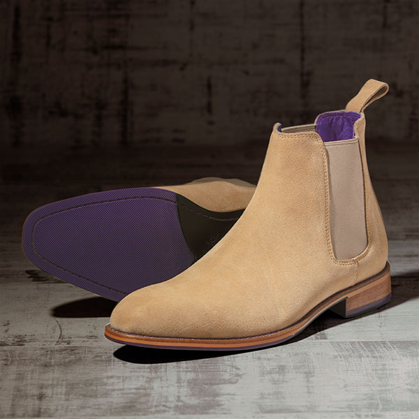 Italian Suede Leather Sandstone Chelsea Boot - Atlas 3