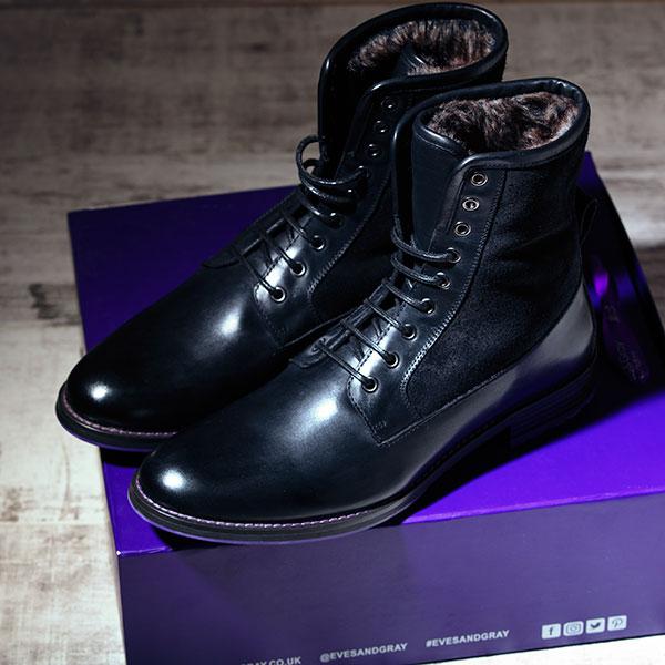 Black Italian Leather Ankle Boot - Maxamillion Black 4