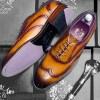 Burnished Tan Leather Brogue - Harvard 1