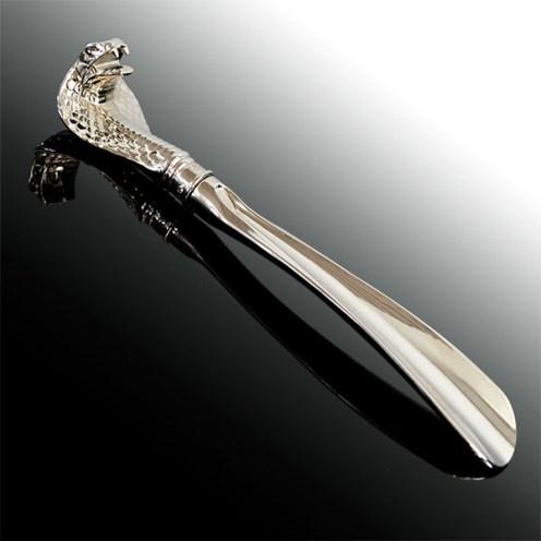 Cobra Headed Metal Shoehorn 3
