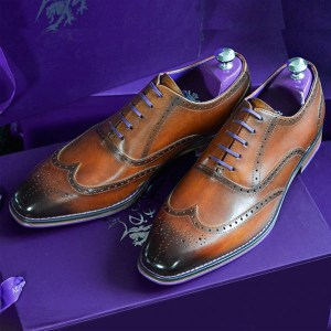 Valiant Burnished Tan Brogue 1