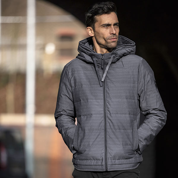 """THE """"LARSON"""" SPACE GREY INSULATED BOMBER JACKET"""