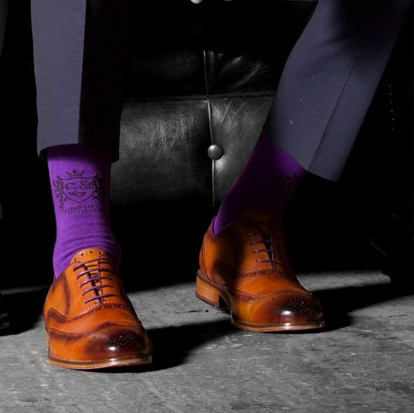 Purple Socks and the perfect Brogue by Eves & Gray