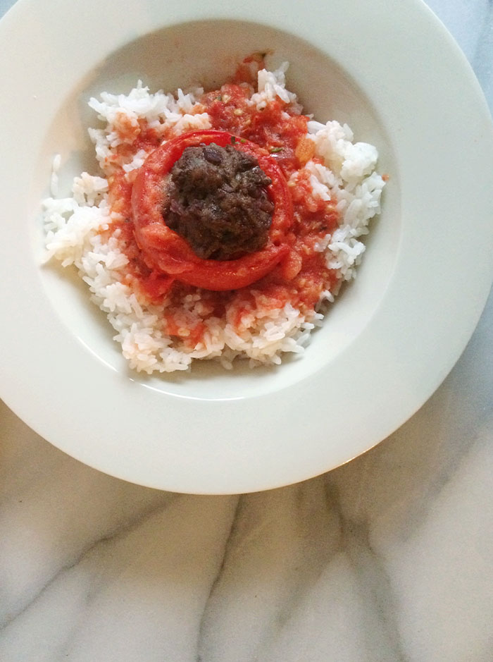 stuffed tomatoes from the oven winter dish recipe