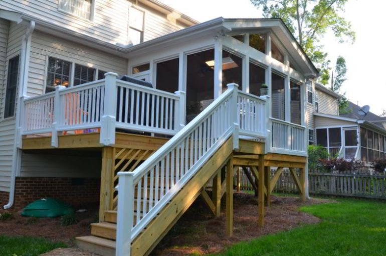 High Stairs for Screened in Deck