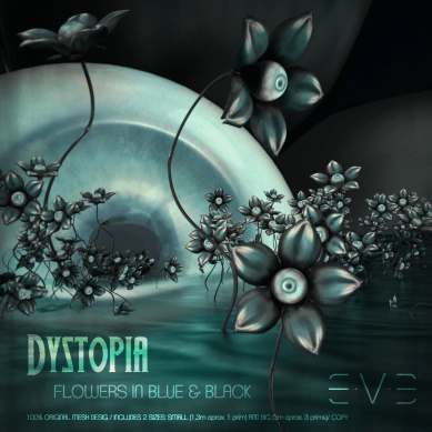 E.V.E DYSTOPIA Flower Eye Blue and Black (V)